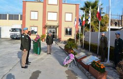 Flag Raising ceremony at UNMOGIP headquarters Islamabad